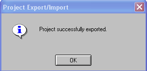 Exporting/importing existing file