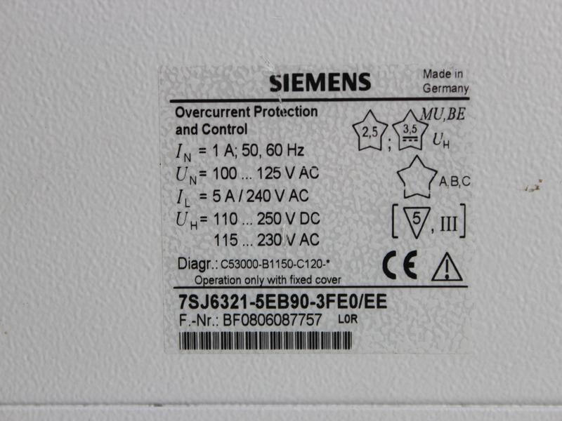 SIEMENS 7SJ63 PLC